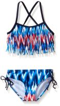 Kanu Surf Girls' Kelly Beach Sport Fringe 2-Piece Bikini Swimsuit