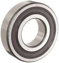 SKF 6305 2RSJEM Medium Series Deep Groove Ball Bearing, Deep Groove Design, ABEC 1 Precision, Double Sealed, Contact, Steel Cage, C3 Clearance, 25mm Bore, 62mm OD, 17mm Width, 2610lbf Static Load Capacity, 5060lbf Dynamic Load Capacity
