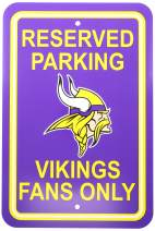 "Fremont Die NFL Minnesota Vikings Team Sign, 12"" x 18"", Reserved Parking Sign"
