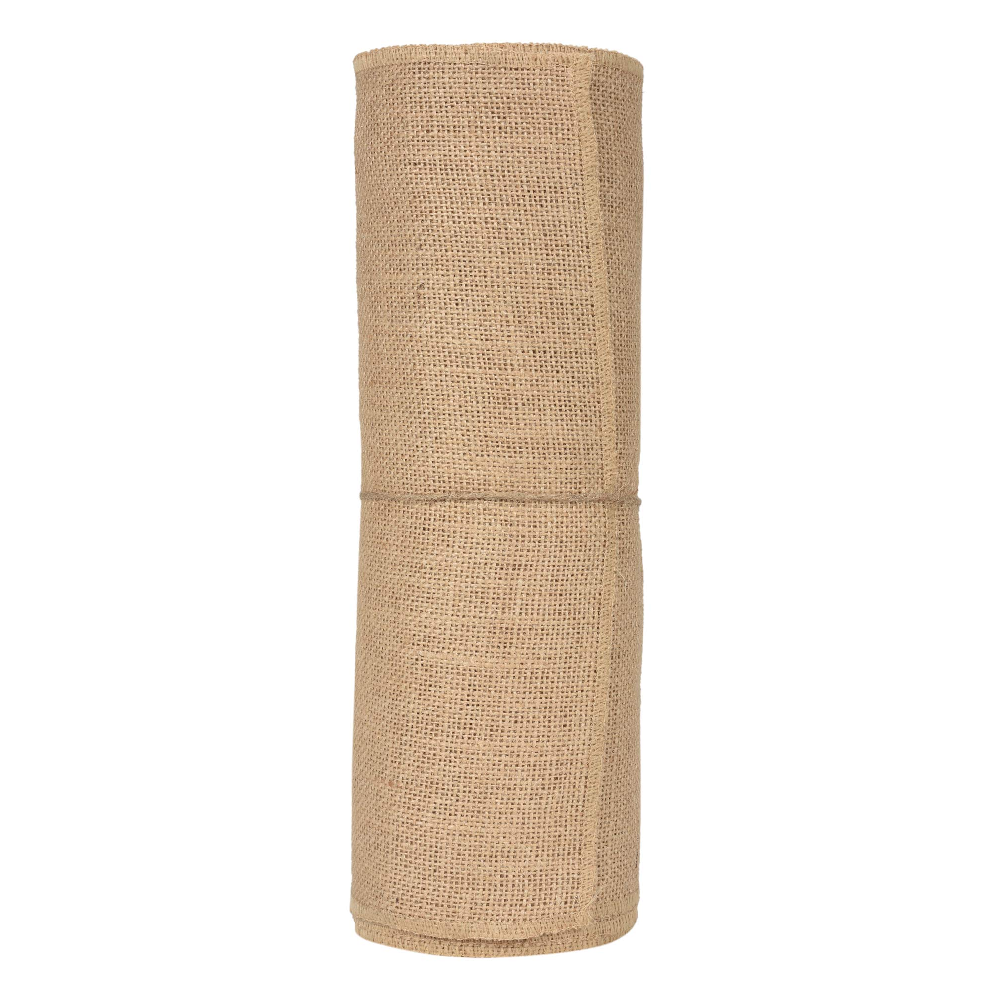 JU JUCOS Burlap ROLL – NO FRAY Burlap ROLL – Burlap Table Runner – Runners, PLACEMENTS, and Crafts – ECO-Friendly Material – Avoid Messes Completely – 12 INCHES by 10 Yards Burlap ROLL