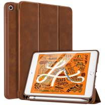 MoKo Case Fit New iPad Mini 5 2019 (5th Generation 7.9 inch) with Pencil Holder - Slim Lightweight Smart Shell Stand Cover Case with Auto Wake/Sleep for iPad Mini 2019 - Brown