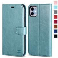 OCASE iPhone 11 Case, iPhone 11 Wallet Case with Card Holder, Leather Flip Case with Kickstand and Magnetic Closure, TPU Shockproof Interior Protective Cover for iPhone 11 6.1 Inch (Mint Green)
