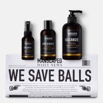Manscaped Crop Essentials, Male Care Hygiene Bundle, Includes Invigorating Body Wash, Moisturizing Ball Deodorant, High Performance Body Toner (pH Balanced) Plus Free Disposable Shaving mats