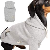 BLOOMING PET Plain Hoodie Shirt Pullover Spring Clothes for Small Dog | Cotton Short Sleeves Sweatshirt | Soft Breathable Comfy (Non-Fleece Urban Grey, 2XL)