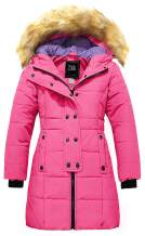 ZSHOW Girls' Long Winter Coat Parka Water Resistant Warm Puffer Jacket