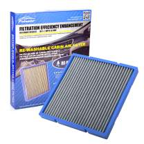 POTAUTO MAP 5004 (CF10132) Re-Washable Car Cabin Air Filter Compatible Aftermarket Replacement Part