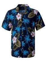 J.VER Hawaiian Shirt for Men Short Sleeve Casual Button Down Aloha Shirts Beach Party