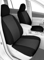 CalTrend Front Row Bucket Custom Fit Seat Cover for Select Toyota FJ Cruiser Models - NeoSupreme (Charcoal Insert and Black Trim)