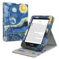 TiMOVO Case Compatible for Kindle Paperwhite E-Reader(10th Generation, 2018 Release), Vertical Multi-Viewing Stand Wallet Cover Auto Sleep/Wake Case Fit Amazon Kindle Paperwhite - Starry Night