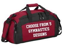 Personalized Gymnastics Gym Sports Duffel Bag (Design 10/Red)