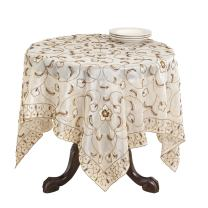 SARO LIFESTYLE SBF08 Nadja Square Table Topper, 40-Inch, Champagne