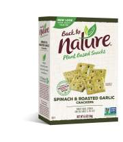 Back to Nature Crackers, Non-GMO Spinach & Garlic, 6.5 Ounce (Packaging May Vary)