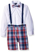 Izod Boys' 4-Piece Suspender Set with Dress Shirt, Bow Tie, Shorts, and Suspenders