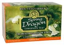 Dragon Herbs Spring Dragon Longevity Tea - 20 Tea Bags - 60 cups - Made with Premium Gynostemma - All natural