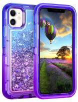 Coolden Case for iPhone 11 Cases Protective Glitter Case for Women Girls Cute Bling Sparkle Heavy Duty Hard Shell Shockproof TPU Case for 2019 Release 6.1 Inches iPhone 11 iPhone XI, Blue Purple