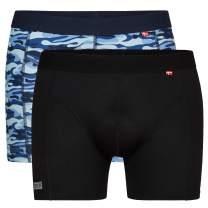 DANISH ENDURANCE 2 Pack Men's Sports Underwear, Oeko-TEX Standard, Multipack, Fast Drying, Breathable, Odor-Resistant