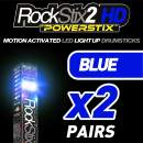 ROCKSTIX 2 HD BLUE, BRIGHT LED LIGHT UP DRUMSTICKS, with fade effect, Set your gig on fire! (BLUE TWIN PACK - 2 PAIRS)