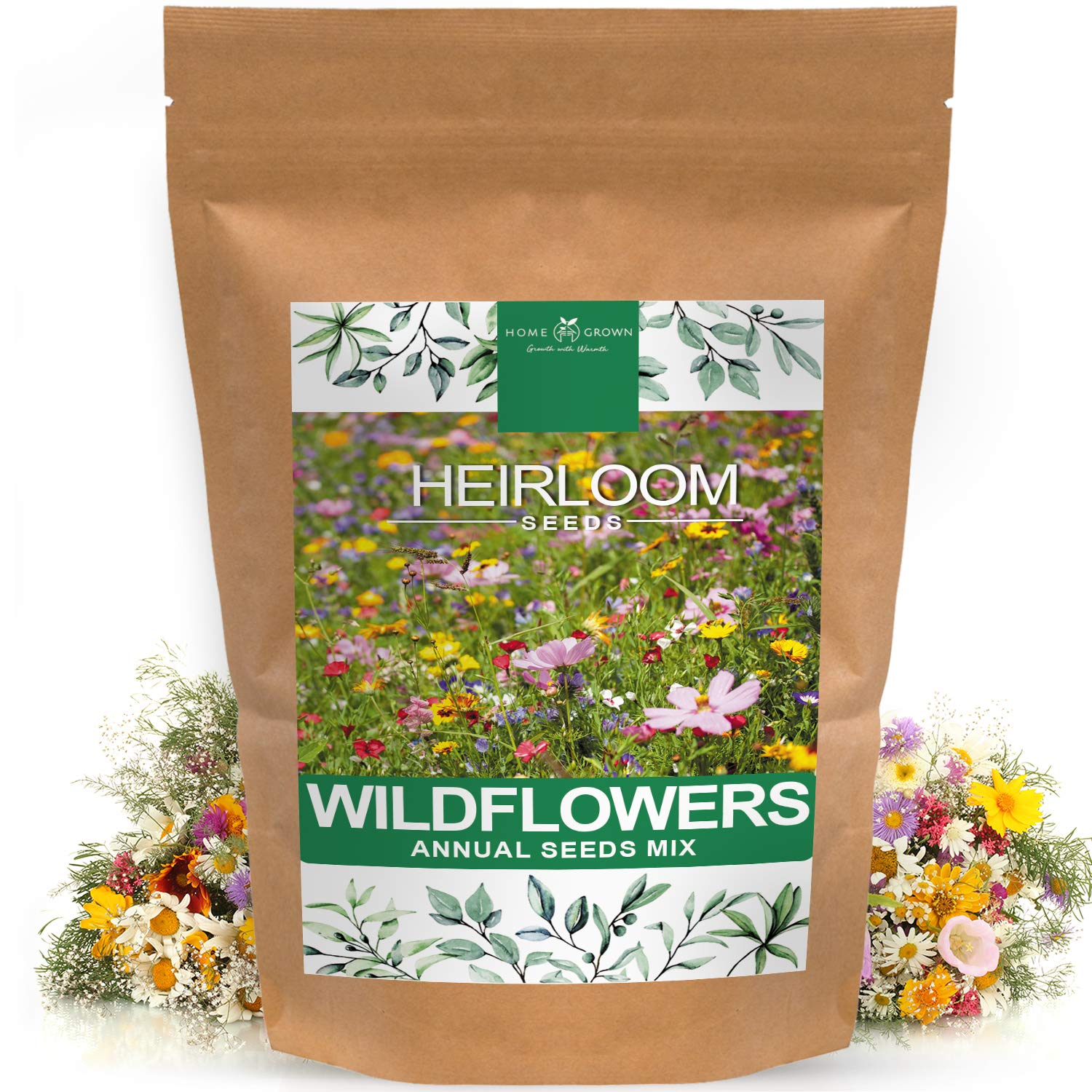 Wildflower Seeds   Mix of 21 Different Varieties of Non-GMO Wildflower Seeds   Bee and Butterfly Garden Seeds   Colorful Annual Flower Seeds   American Wildflower Seeds for Your Garden