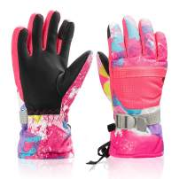 Ski Snowboard Gloves, Waterproof Winter Warm Gloves, Cold Weather Gloves for Kids & Adults