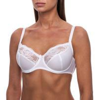 frugue Women's Minimizer Sheer Lace Plus Size Unlined Bra