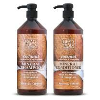 Dead Sea Collection Mineral Shampoo & Conditioner with Coconut Oil Moisturizes and Strengthens Pack of 2 (33.8 fl.oz shampoo 30.6 fl.oz conditioner)