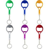 Swatom Tennis Racket Bottle Opener with Keychain Key Ring Accessories (6 PCs)