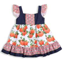 Toddler Baby Girls Dress Ruffle Sleeve Pumpkin Skirts Party Princess Tutu Sundress Outfits Clothes