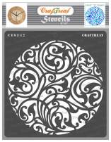 CrafTreat Ornate Stencils for Painting on Wood, Canvas, Paper, Fabric, Floor, Wall and Tile - Ornate Circle Background - 6x6 Inches - Reusable DIY Art and Craft Stencils - Circle Stencil
