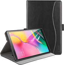 Ztotop Case for Samsung Galaxy Tab A 10.1 Inch Tablet 2019(SM-T510/T515), PU Leather Folding Stand Folio Cover with Pen Holder, Card Pocket and Multiple Viewing Angles,Black