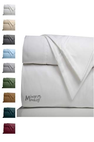 Minor Monkey Egyptian Cotton 1000, 1000 Thread Count Cotton Queen Bed Sheets