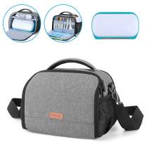 Yarwo Carrying Case for Cricut Joy, Portable Tote Bag with Accessories Storage for Cricut Pen Set and Basic Tool Set, Gray