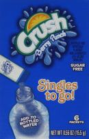 Crush Singles To Go Powder Packets, Water Drink Mix, Berry Punch, Non-Carbonated, Sugar Free Sticks (12 Boxes with 6 Packets Each - 72 Total Servings) - ORIGINAL FLAVOR