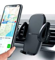 Universal Air Vent Car Phone Mount Holder - Updated Version by Mongoora - for Any Smartphone - Car Cell Phone Holder - Vent Phone Holder - Car Vent Mount - Air Vent Mount Holder - for Women Men.
