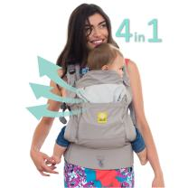 LÍLLÉbaby 4-in-1 Essentials All Seasons Ergonomic Baby & Child Carrier, Stone - Cotton
