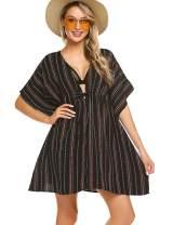 ADOME Cover Ups for Swimwear Women Plus Size Swimsuit Cover Ups Striped Beachwear