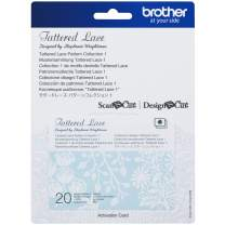 Brother ScanNCut Tattered Lace Pattern Collection #1 CATTLP01, Includes 20 Intricate Designs, Decorative and Nature Inspired, Ornate Flourishes for Papercrafts, Greeting Cards and More