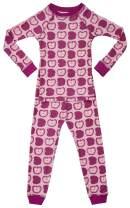Brian the Pekingese Girls Sleepwear 100% Organic Cotton Pajamas Made in USA Sizes 18m to 10 Years