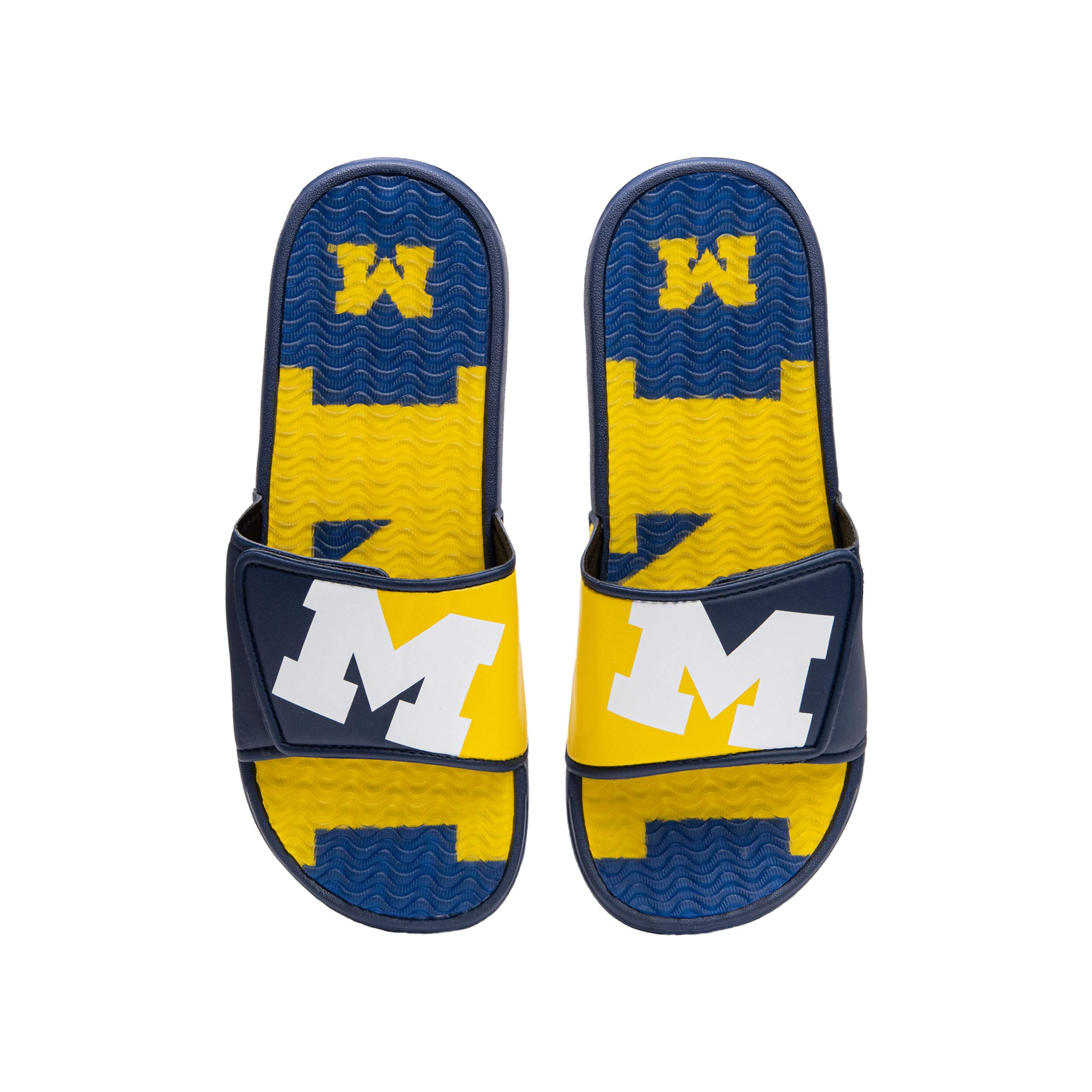 FOCO Men's Sport Shower Flip Flop Sandals Ohio State Buckeyes NCAA Colorblock Big Logo Gel Slides-M
