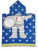 Athaelay Lightweight Microfiber Hooded Beach Towel for Kids, Toddlers Bath/Pool/Swim Poncho Cover-ups Swimwear (Astronaut)