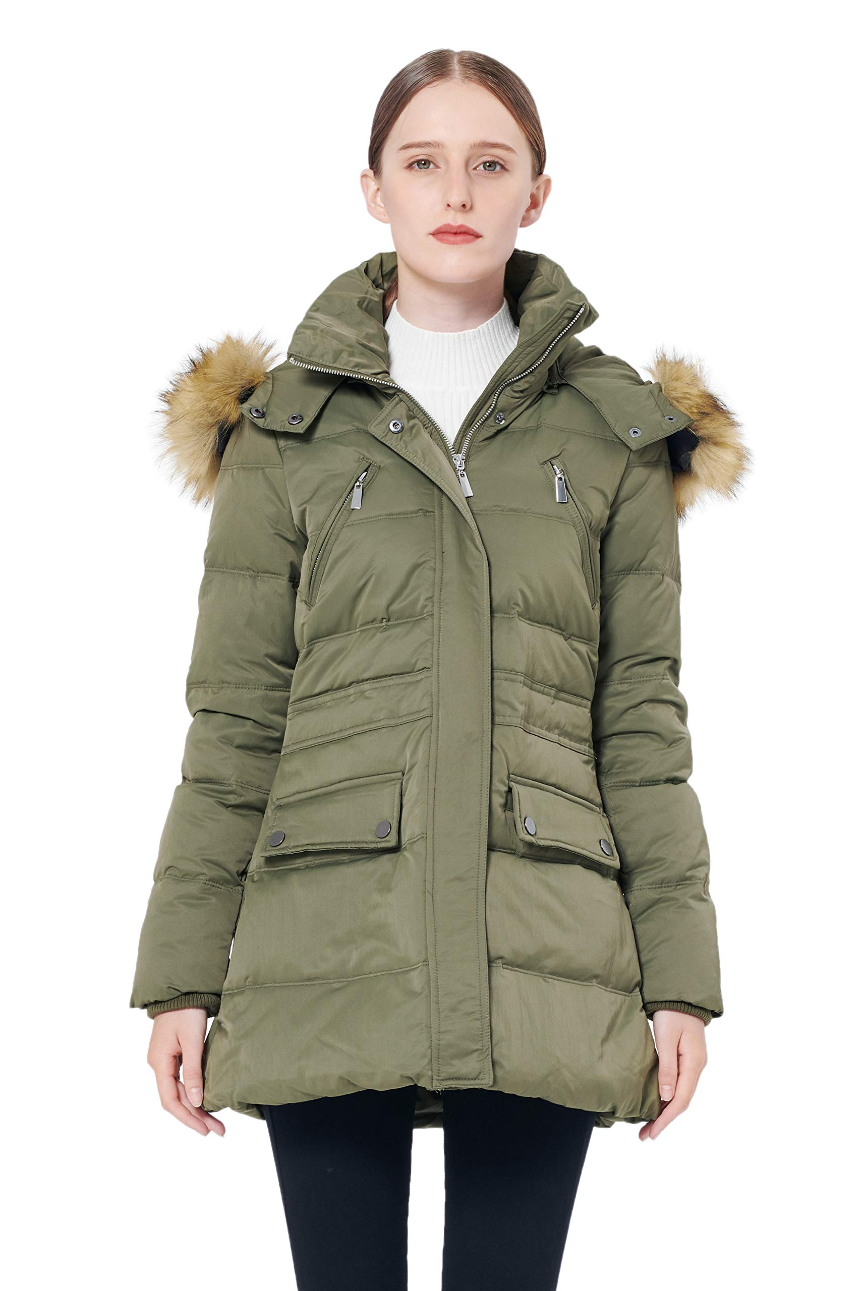 Orolay Women's Thickened Down Jacket Winter Coat Black
