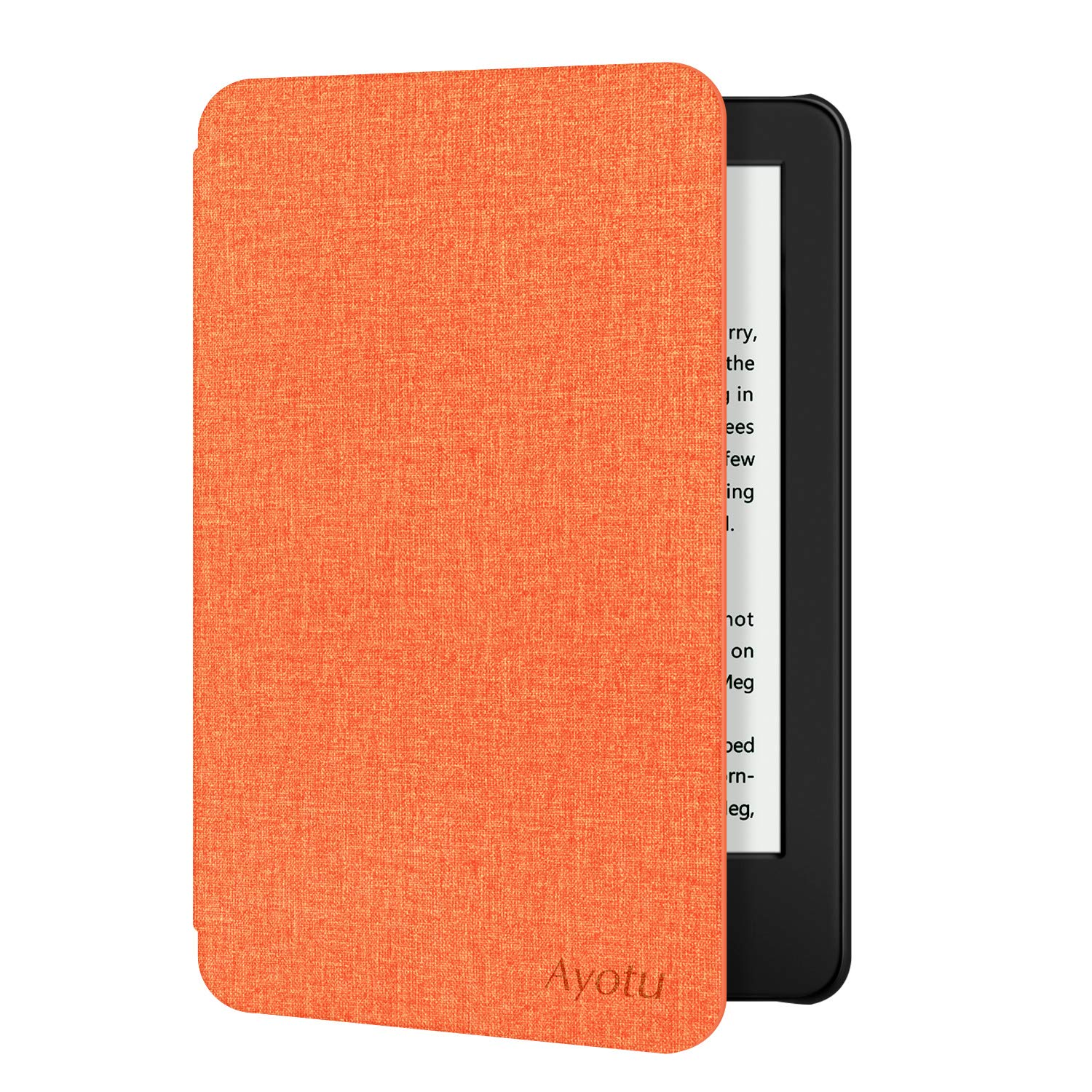 Ayotu Case for All-New Kindle 10th Gen 2019 Release - Durable Cover with Auto Wake/Sleep fits Amazon All-New Kindle 2019(will not fit Kindle Paperwhite or Kindle Oasis) Orange