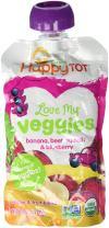 Happy Tot Love My Veggies Organic Banana Beet Squash and Blueberry Blend, 4.22 Ounce - 16 per case.