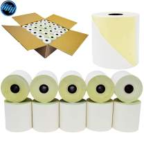 3 x 90' 2-Ply White/Canary Carbonless Kitchen Paper 50 Rolls - TMU 220 paper - BuyRegisterRolls