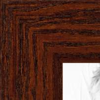 ArtToFrames 10x10 inch Walnut Stain on Oak Wood Picture Frame, WOM0066-80206-YWAL-10x10