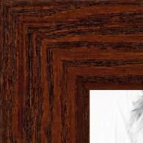 ArtToFrames 7x24 inch Walnut Stain on Oak Wood Picture Frame, 2WOM0066-80206-YWAL-7x24