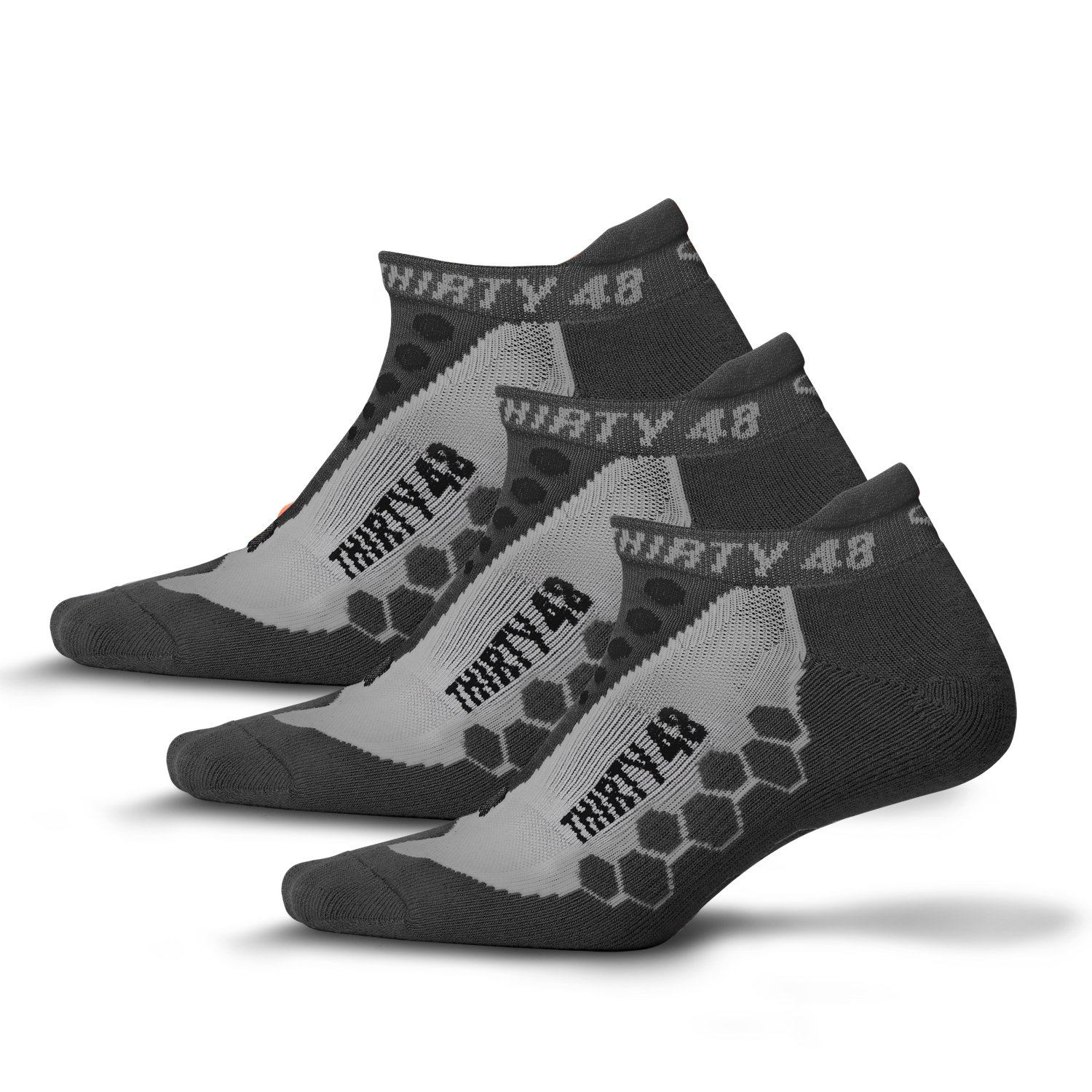 Thirty 48 Running Socks for Men and Women Features Coolmax Fabric That Keeps Feet Cool & Dry - 1 Pair or 3 Pairs