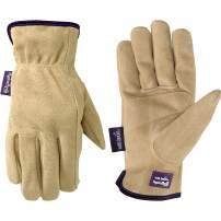 Women's Water-Resistant Leather Work Gardening Gloves (Wells Lamont 1003L)
