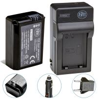 BM Premium NP-FW50 Battery and Charger for Sony A6100, A6400, DSC-RX10 IV, DSC-RX10 III, DSC-RX10 II, DSC-RX10, Alpha 7, Alpha 7R, a7, a7R, A7s, A7s II, a3000, a5000, a6000, a6300, a6500 Cameras