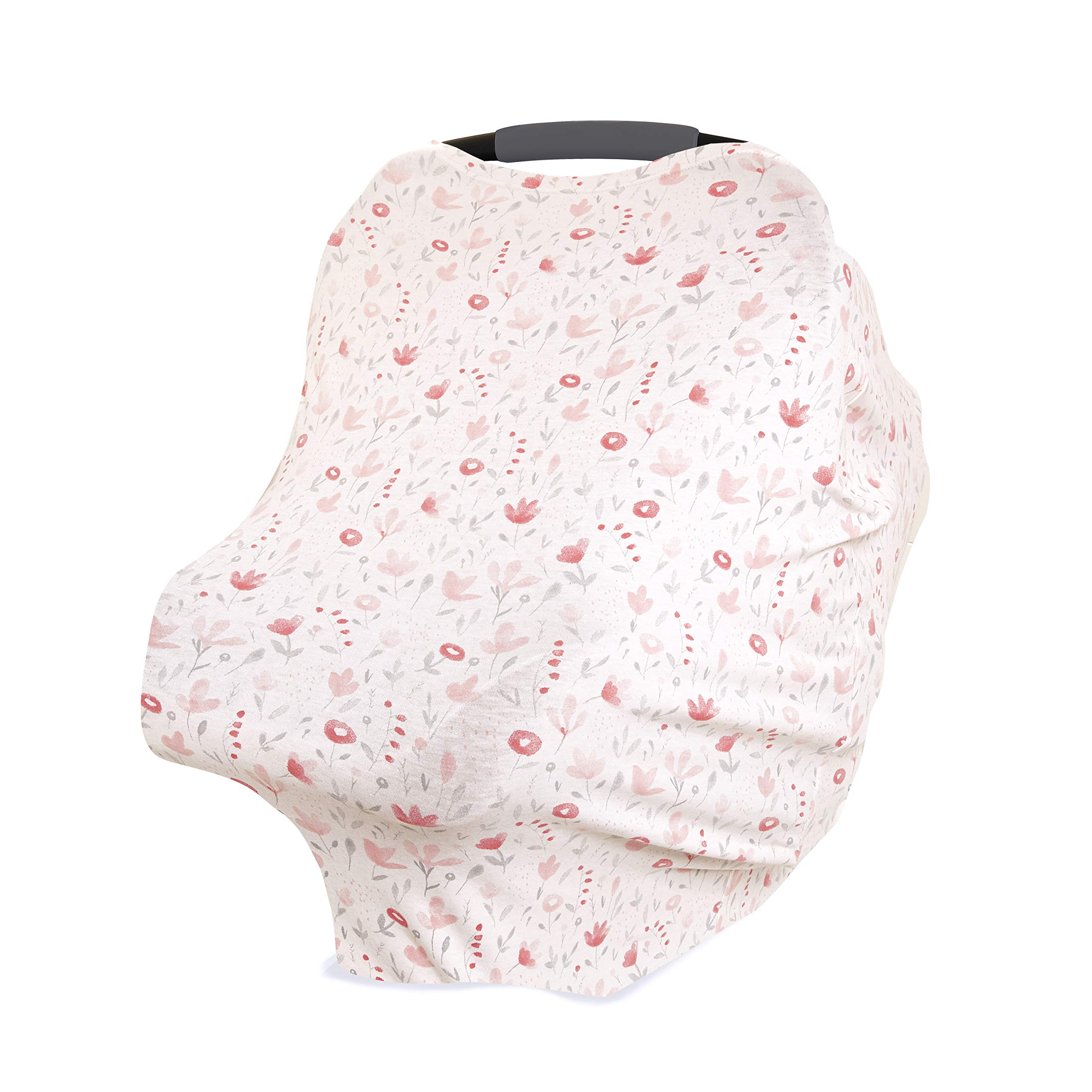 aden + anais Comfort Knit 6-in-1 Super Soft Cotton with Spandex Multi-Use Cover for Car Seat, Nursing, Cart, Baby Swing, High Chair, Infinity Scarf, Perennial