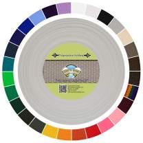 Country Brook Design - Polypropylene Webbing (Silver, 25 Yards, 1 Inch)